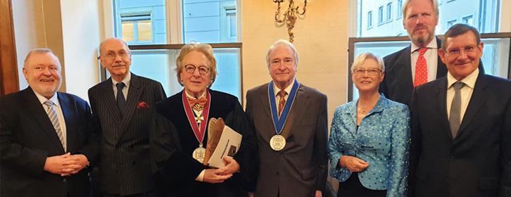 BeNeLux-bijeenkomst in Luxemburg o.l.v. prof. Anton van der Geld met de ambassadeurs van België, Nederland en Luxemburg.