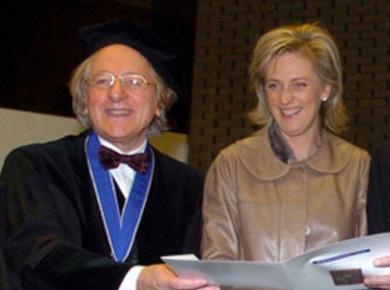 Prof. A. van der Geld en Prinses Astrid van België