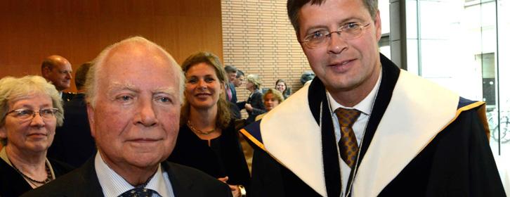 Samenwerking binnen het B.U.C.: de oud-premier prof. Mark Eyskens en oud-premier prof. Jan Peter Balkenende