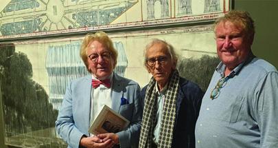V.l.n.r. prof. Anton van der Geld, Christo en Guy Pieters