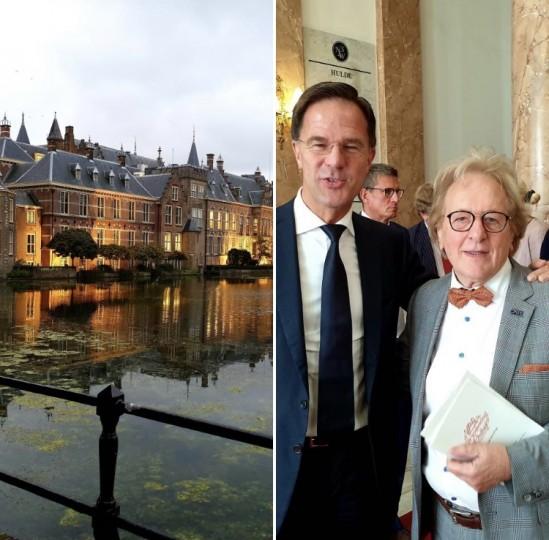 Premier Mark Rutte en prof. Anton van der Geld