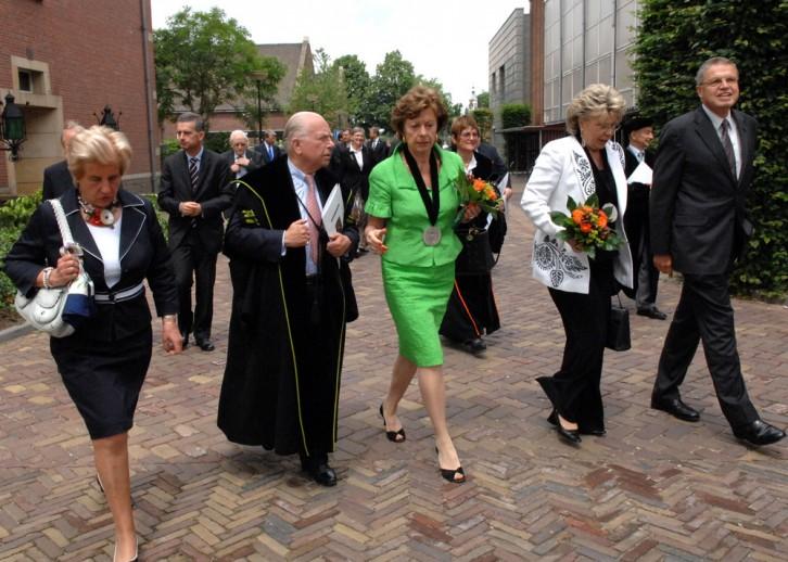 Op weg naar de academische zitting op het Kasteel van Breda