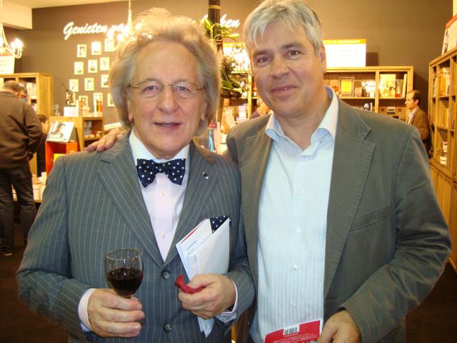 Boekenbeurs Antwerpen: prof. Anton van der Geld en Bert Anciaux