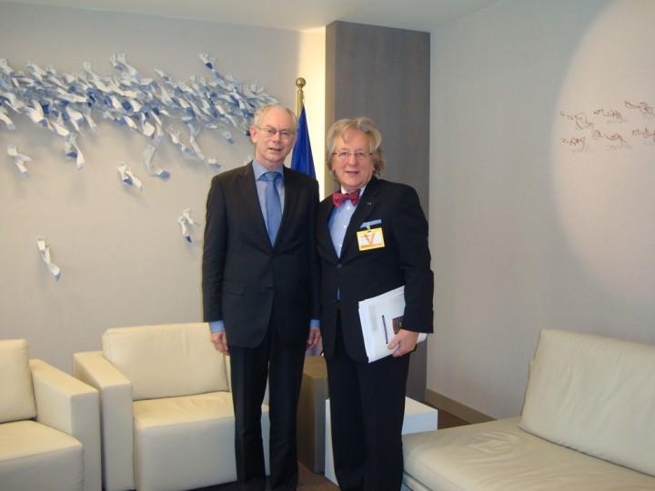 Prof. Anton van der Geld op bezoek bij de voorzitter van de Europese Raad Herman van Rompuy in Brussel