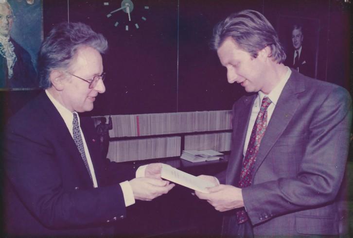Toespraak van prof. Anton vd Geld voor Prins Filip van België
