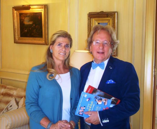 BUC-bespreking in Brussel: beschermvrouwe prinses Lea van België en voorzitter prof. Anton van der Geld