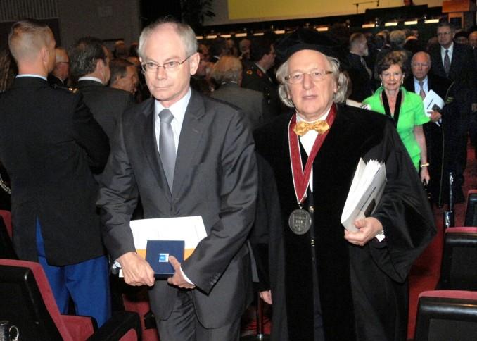 Herman Van Rompuy, President van de Europese Raad en Prof. Anton van der Geld, president B.U.C.