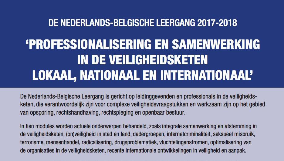 De Nederlands-Belgische Leergang 2017-2018